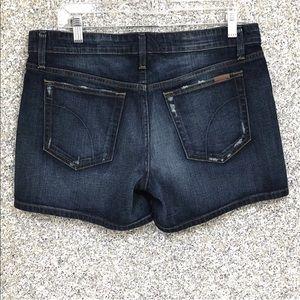 Joe's Jean ▪️Denim Shorts 30 Blue Dark Distressed